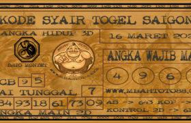 Syair Togel Saigon 16 Maret 2020