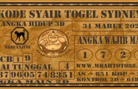 Syair Togel Sydney 31 Maret 2020