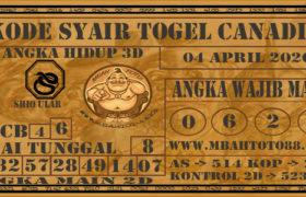 Syair Togel Canadia 04 April 2020