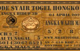 Syair Togel Hongkong 04 April 2020