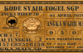 Syair Togel Singapura 01 April 2020