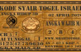 Syair Togel Israel 02 April 2020