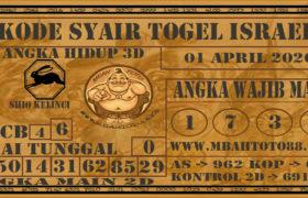 Syair Togel Israel 01 April 2020