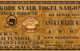 Syair Togel Saigon 09 April 2020