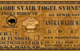 Syair Togel Sydney 03 April 2020