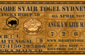 Syair Togel Sydney 05 April 2020