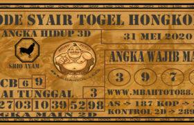 Syair Togel Hongkong 31 Mei 2020
