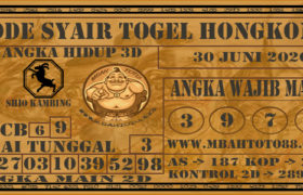Syair Togel Hongkong 30 Juni 2020