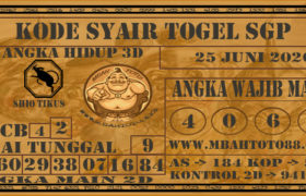 Syair Togel Singapura 25 Juni 2020