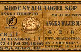 Syair Togel Singapura 28 Juni 2020