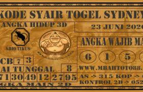 Syair Togel Sydney 23 Juni 2020