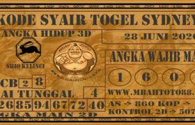 Syair Togel Sydney 28 Juni 2020
