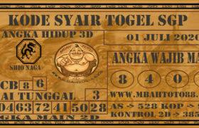 Syair Togel Singapura 01 Juli 2020