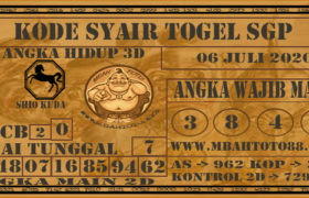 Syair Togel Singapura 06 Juli 2020