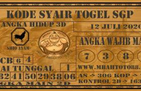 Syair Togel Singapura 12 Juli 2020