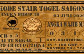 Syair Togel Saigon 03 Juli 2020