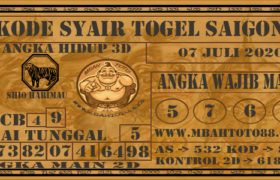 Syair Togel Saigon 07 Juli 2020