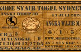 Syair Togel Sydney 13 Juli 2020