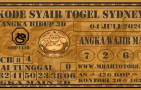 Syair Togel Sydney 04 Juli 2020