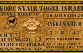 Syair Togel Israel 10 Agustus 2020