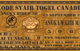Syair Togel Canadia 12 September 2020