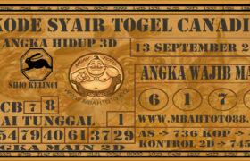 Syair Togel Canadia 13 September 2020