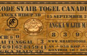 Syair Togel Canadia 15 September 2020