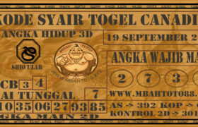 Syair Togel Canadia 19 September 2020