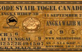 Syair Togel Canadia 11 September 2020