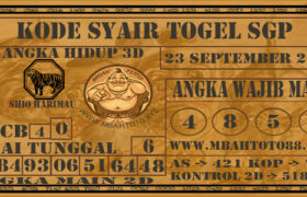 Syair Togel Singapura 23 September 2020