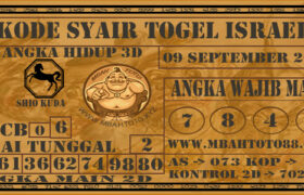 Syair Togel Israel 09 September 2020