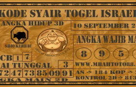 Syair Togel Israel 10 September 2020