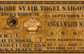 Syair Togel Saigon 15 September 2020