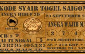 Syair Togel Saigon 23 September 2020