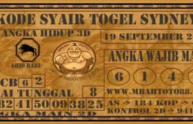 Syair Togel Sydney 19 September 2020