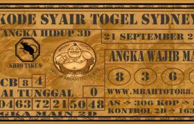 Syair Togel Sydney 21 September 2020