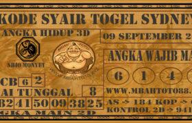Syair Togel Sydney 09 September 2020