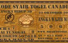 Syair Togel Canadia 22 Oktober 2020