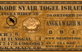 Syair Togel Israel 20 Oktober 2020