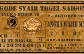 Syair Togel Saigon 27 Oktober 2020
