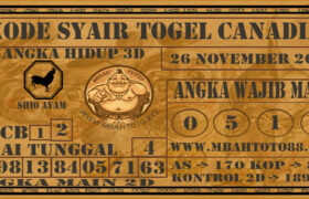 Syair Togel Canadia 26 November 2020