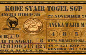 Syair Togel Singapura 22 November 2020