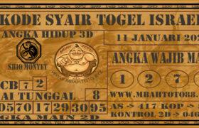 Syair Togel Israel 11 Januari 2021