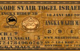 Syair Togel Israel 18 Januari 2021