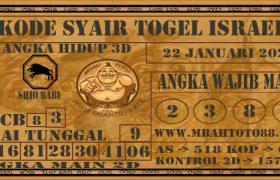 Syair Togel Israel 22 Januari 2021