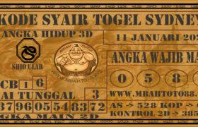 Syair Togel Sydney 11 Januari 2021