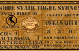 Syair Togel Sydney 19 Januari 2021