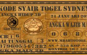 Syair Togel Sydney 21 Januari 2021