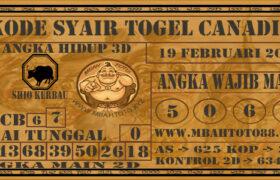 Syair Togel Canadia 19 Februari 2021