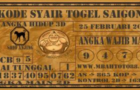 Syair Togel Saigon 25 Februari 2021